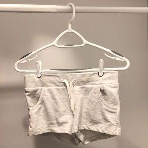 Basic light grey shorts.